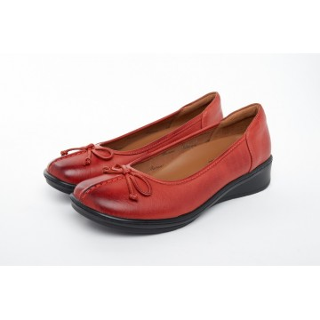1723 Barani Leather Pumps (with Fixed Bow)
