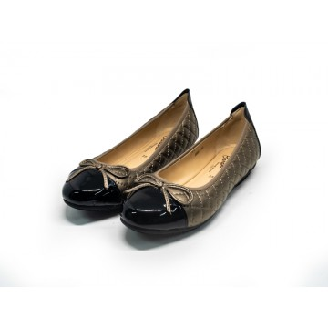 2085 Barani Leather Pumps/Ballet Flats (Quilted)