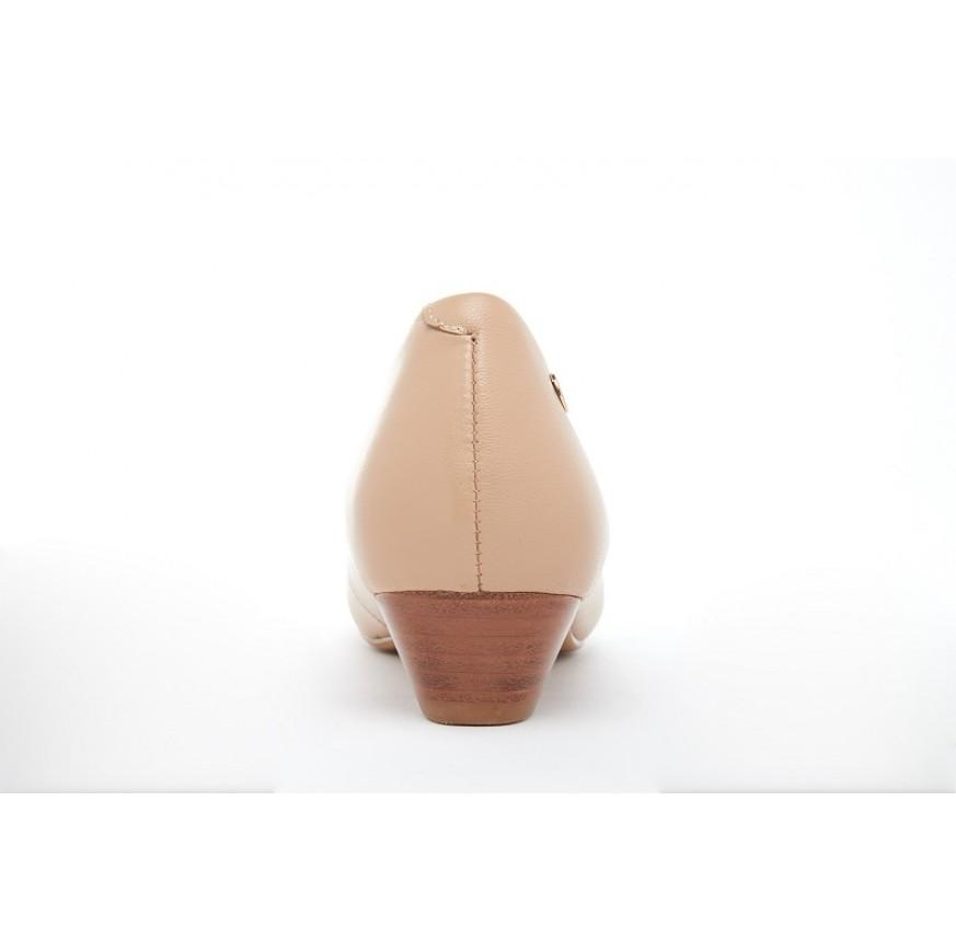 4211 Barani Classic Leather Heels (Short)