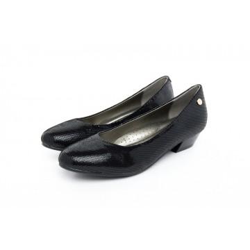 4211LG Barani Classic Leather Heels (Short, Textured Leather)