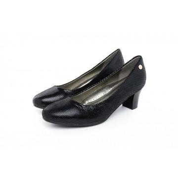 6011LG Barani Classic Leather Heels (Mid, Textured Leather)