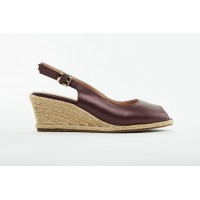 6603 Barani Leather Wedged Sandals (Espadrille)