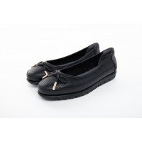 8841-141 Barani Leather Pumps/Ballet Flats (with Fixed Bow)
