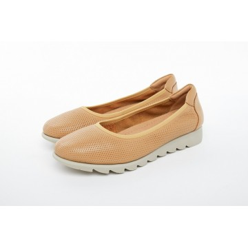 8938-48 Barani Leather Pumps/Ballet Flats (Perforated)