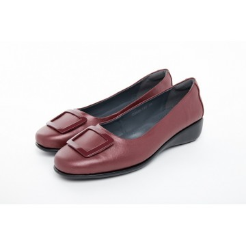 8948-139 Barani Leather Pumps (with Micro Wedge, Fixed Buckle)